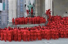 Spencer Tunick nude public art performance of wagner's 'the ring' opens munich opera festival