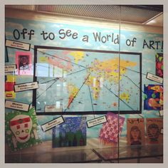 "art around the world.  I'd love to change this to ""Off to See a World of Music"" and highlight unusual instruments from various countries."