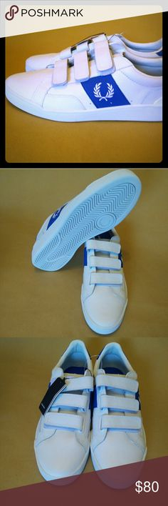 Fred Perry white sneakers Sturgess lea sports ath velcro Fred Perry Shoes Sneakers