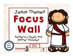 This Print and Go Focus Wall can double as a classroom labels!  Make your private school classroom shine with this great product from The Best Days!