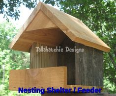 30% OFF TODAY Rustic Nesting Shelter Rustic by TallahatchieDesigns