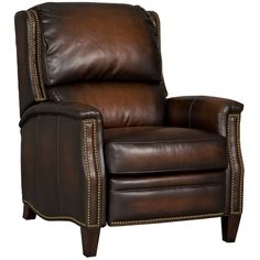 Hooker Furniture has been an industry leader for quality bedroom sets, dining room sets, living room furnishings, and home office furniture for over 90 years. Hooker Furniture, Leather Furniture, Large Furniture, Quality Furniture, Accent Furniture, Furniture Ideas, Brown Leather Recliner, Leather Recliner Chair, Leather Sofas