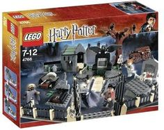 LEGO Graveyard Duel by LEGO. $397.90. LEGO set features a children's-favorite Harry Potter theme. Discover the hidden secrets of the sinister graveyard. The evil Lord Voldemort is back, and that means danger for Harry Potter. Kit comes with 548 pieces, including figures, structures and accessories. As Wormtail and the Death Eater look on, Harry must face Voldemort in the duel of his life. From the Manufacturer                To complete the first task of the Triwiza...