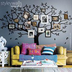 Stammbaum Wandtattoos Fotorahmen Baum Wandtattoo von Smileywalls auf DaWanda.com