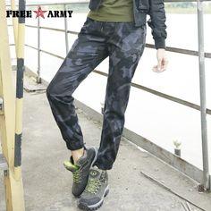 FreeArmy 3 colores Pantalones mujer Casual pantalones de camuflaje militar  pantalones al aire libre Safari estilo 83d726f1635