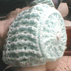 crochet baby bonnet hat's patterns | Free Crochet Pattern - Elizabeth Baby Bonnet from the Baby hats and ...