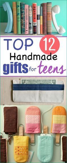12 Handmade gifts for teens.  Awesome Christmas gifts for boys and girls.  Perfect gifts for those who might be a little harder to please. #Handmadegifts