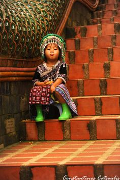 Little Girl in Chiang Mai, Thailand