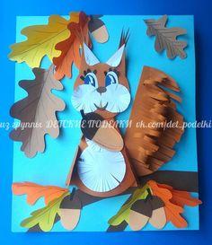 ДЕТСКИЕ ПОДЕЛКИ Fall Arts And Crafts, Autumn Crafts, Autumn Art, Thanksgiving Crafts, Diy And Crafts, Crafts For Kids, Paper Crafts, Diy Paper, Origami
