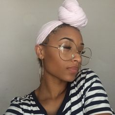 Check out ❤️ Pretty Black Girls, Black Is Beautiful, Bad Hair, Hair Day, Natural Hair Tips, Natural Hair Styles, Afro, Head Wrap Scarf, Turban Style