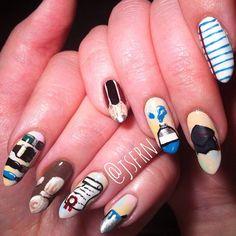 Jane Safarian nail art (@jsfrn_nailart) •  art school graduation nails #artschool #graduationnails #nails