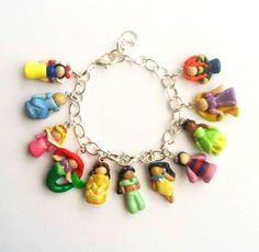 Disney Princess Inspired Polymer Clay Charm by aWishUponACharm, $35.00