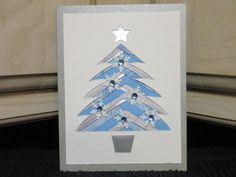 Iris Fold Christmas Card using cut out from Creations by Dedra.