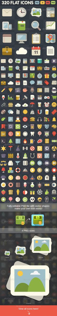 320 Flat Icons | Buy and Download: http://graphicriver.net/item/320-flat-icons/6959638?WT.ac=category_thumb&WT.z_author=PerfectVectors&ref=ksioks
