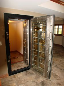Residential Vault Door...might want to work a little harder on the hidden part...