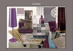 planche tendance aubergine Vanity, Mirror, Inspiration, Furniture, Home Decor, Planks, Eggplant, Trends, Home Ideas
