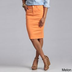Colored Denim Skirts - Dress Ala