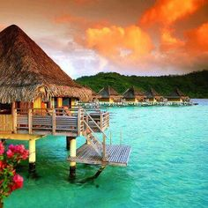 Besonders Berühmt ist Bora Bora für seine Luxushotels die alle auf Stelzen stehen in der Lagune stehen. Von Tropenwarmen Wasser umgeben einfach ein Traum