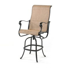 The Valbonne sling swivel bar stool provides the perfect vantage point for a beautiful outdoor area.