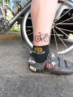 Lonely Cyclist #tattoos #bicycle                              …