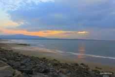 Beach at Strandhill Co Sligo just before an autumnal sunset