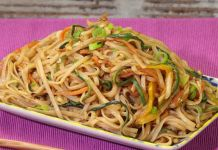 Weight Watcher Recipes 67520 WW vegetarian stir-fried noodles, recipe for a tasty light dish with an Asian taste, easy and simple to prepare for a light meal. Plats Weight Watchers, Weight Watchers Meals, Sicilian Recipes, Sicilian Food, Dinner Rolls, Light Recipes, Food Photography, Dinner Recipes, Food And Drink