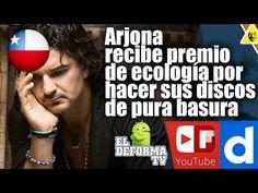 Arjona recibe premio de ecología por hacer sus discos de pura basura