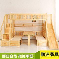 Aliexpress.com: Comprar Los niños de cama litera multifunción madera niños toboganes puede ser modificado para requisitos particulares duplica de puertas corredizas de vidrio comercial fiable proveedores en Furniture  Flagship store