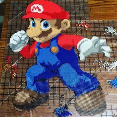 "Super Mario perler beads by  dragonbeadz (24""x20"")"