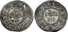 CNG: The Coin Shop. UNITED STATES, Colonial & Related. Autonomous British issues. Massachusetts Bay Colony. 1652-1682. AR Threepence (18mm, 1.09 g, 11h). John Hull's (Boston) mint. Dated 1652, struck 1667-1674.