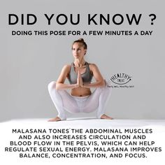 Did you know the health benefits of a yoga squat? To learn all the foundational poses of yoga including this one their. Yoga Fitness, Fitness Workout For Women, Yoga Moves, Yoga Exercises, Pilates Yoga, Pilates Reformer, 5am Club, Fitness Armband, Ju Jitsu