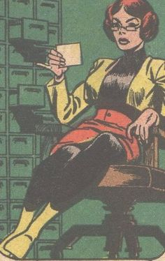"""""""Just One More Woman I Dont Understand Tuesday!"""" -- A relatively amusing post about Batgirl's """"out of character"""" Barbara Gordon wardrobe (shown). I'm crazy about having found her in front of a card catalog, however!"""