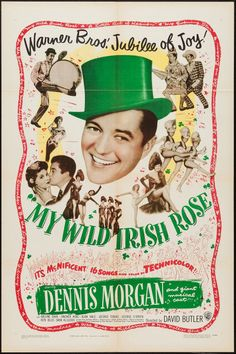 "Movie Posters:Musical, My Wild Irish Rose (Warner Brothers, 1947). One Sheet (27"" X 41"")and Lobby Card Set of 8 (11"" X 14""). Musical.. ... (Total: 9 Items) Image #1"