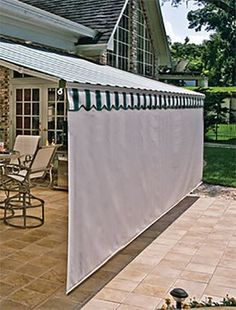 Retractable Awnings | Screens | Patio Awning | Sunesta I like how this has privacy too.
