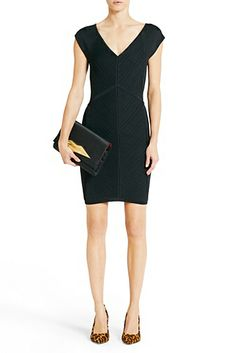 DVF | The Cressida is a sleek bodycon dress with a flattering v-neckline.   http://on.dvf.com/198b4P6