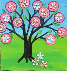 Original Mixed media Mexican Folk Art Style Tree of by icColors, $20.00