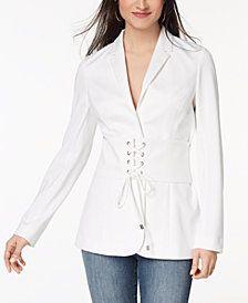 Xoxo Juniors' Corset Blazer - White S Fashion Brands, High Fashion, Cute Blazers, Vest Jacket, Blazer Suit, Corset, Suits, Jackets, Women