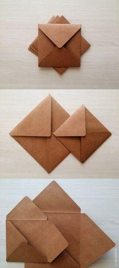 Envelope Quadrado Tulipa - Kraft 200g - 15x15cm // Envelope especial no papel kraft liso de alta gramatura. Ideal para convites de casamento, save the date, aniversário e outros eventos.