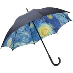 MoMA Starry Night Umbrella, Full Size - Starry Night (€49) ❤ liked on Polyvore featuring accessories, umbrellas, other, navy blue umbrella, moma umbrella and navy umbrella