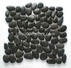 Black Pebble Stone Mosaic Tile (yyyhs-7) - China pebble mosaic tile, Yiyuan