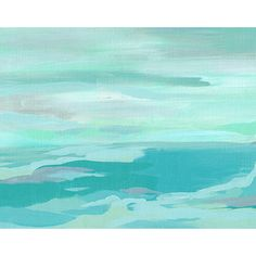 Turquoise and Gray 11x14 abstract art print, ocean artwork ...