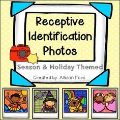 FREE Receptive Identification Photos! Season & holiday themed.