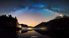 Oberseetal Milky Way Car Headlights, Central Europe, Stonehenge, Milky Way, Alps, Picture Show, Light Up, Fields, Photos