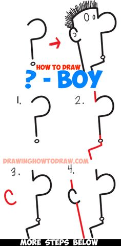 Learn How to Draw a Question Mark Cartoon Character's Face in Simple Step by Step Drawing Lesson for Kids