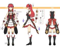 Rain ~ Hollow Realization Character Model Sheet, Character Modeling, Character Concept, Character Art, Concept Art, Sword Art Online Hollow, Sao Characters, Fantasy Words, Human Poses Reference
