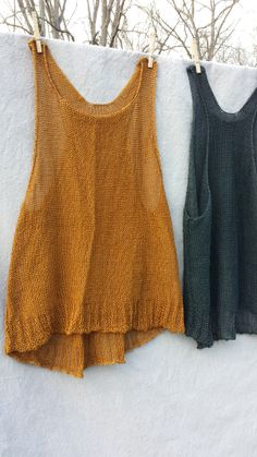 Sunset Inside/Out Tank — Cara May Knits