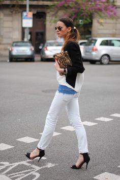 FV - love those jeans, shoes, bag, jacket, sunglasses;)