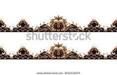 Digital Textile Design Motif Botanical Flower Stock Illustration 2022556019