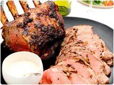 Roasted prime rib with fresh horseradish ~Curtis Stone