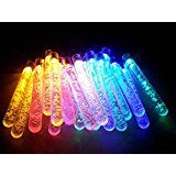 Sunniemart 4.8m Solar Powered 20 LED Icicle Globe String Lights for Christmas Wedding and Party Decoration(multi... christmas deals week